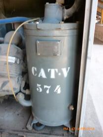 Separador ar óleo em compressores tipo parafuso