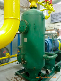 Separadores de líquido de amônia